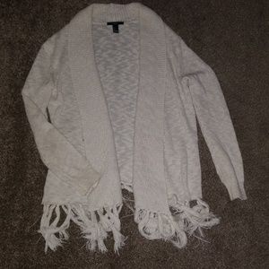 Forever 21 off white shawl neck cardigan size S